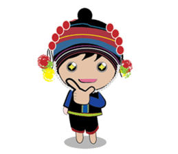 Akha-boy Akha-girl sticker #791413