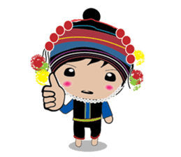 Akha-boy Akha-girl sticker #791414