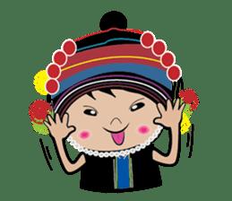 Akha-boy Akha-girl sticker #791415