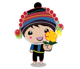 Akha-boy Akha-girl sticker #791416