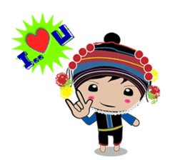 Akha-boy Akha-girl sticker #791417