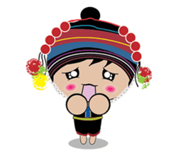 Akha-boy Akha-girl sticker #791418