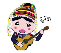 Akha-boy Akha-girl sticker #791422