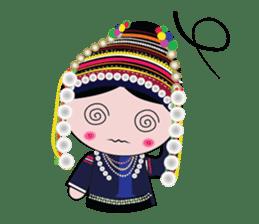 Akha-boy Akha-girl sticker #791427
