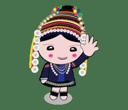 Akha-boy Akha-girl sticker #791428