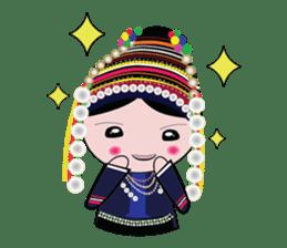 Akha-boy Akha-girl sticker #791430