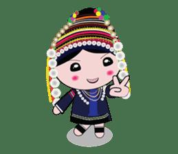 Akha-boy Akha-girl sticker #791431