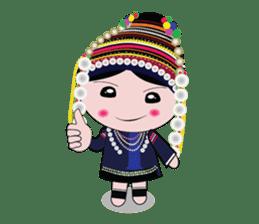 Akha-boy Akha-girl sticker #791433