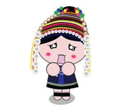Akha-boy Akha-girl sticker #791437