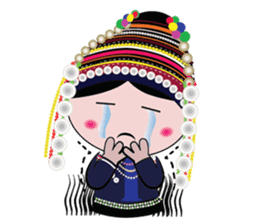Akha-boy Akha-girl sticker #791438