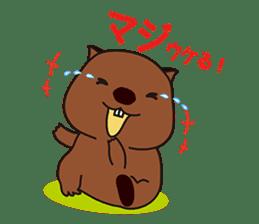 Mr. Wombat's Daily Life sticker #795039