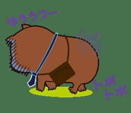 Mr. Wombat's Daily Life sticker #795041