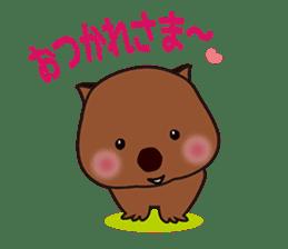 Mr. Wombat's Daily Life sticker #795048