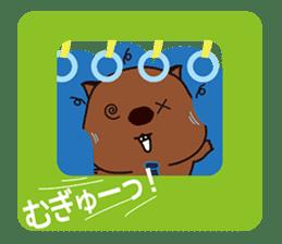 Mr. Wombat's Daily Life sticker #795049