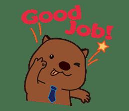 Mr. Wombat's Daily Life sticker #795051