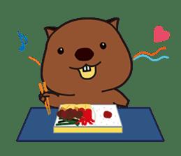 Mr. Wombat's Daily Life sticker #795056