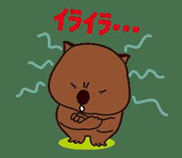 Mr. Wombat's Daily Life sticker #795058