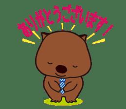 Mr. Wombat's Daily Life sticker #795065