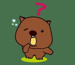 Mr. Wombat's Daily Life sticker #795068