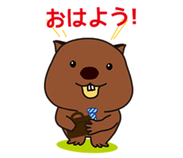Mr. Wombat's Daily Life sticker #795070