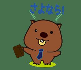 Mr. Wombat's Daily Life sticker #795071