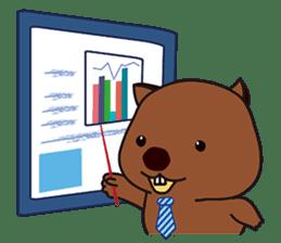 Mr. Wombat's Daily Life sticker #795072