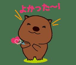 Mr. Wombat's Daily Life sticker #795074