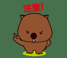 Mr. Wombat's Daily Life sticker #795075
