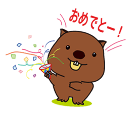 Mr. Wombat's Daily Life sticker #795077
