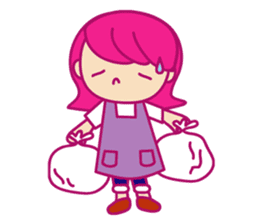 A mom does her best with an apron figure sticker #795368