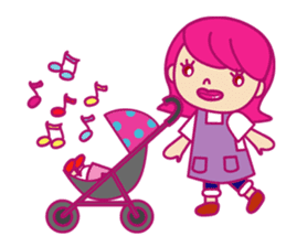 A mom does her best with an apron figure sticker #795380