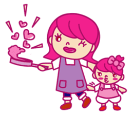A mom does her best with an apron figure sticker #795398