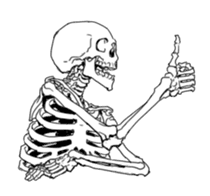 just bones sticker #795845