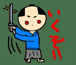 The pretty samurai sticker #798164