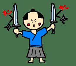 The pretty samurai sticker #798172
