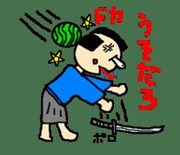 The pretty samurai sticker #798178