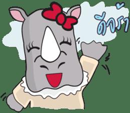 I'm A Rhyno Girl sticker #800719