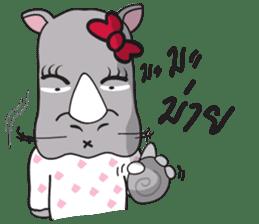 I'm A Rhyno Girl sticker #800721