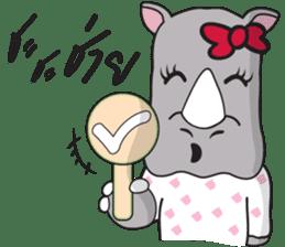 I'm A Rhyno Girl sticker #800722