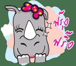 I'm A Rhyno Girl sticker #800725