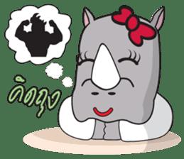 I'm A Rhyno Girl sticker #800737