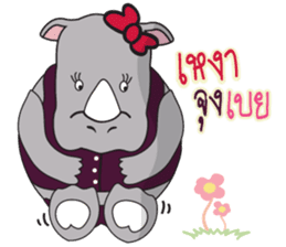 I'm A Rhyno Girl sticker #800738