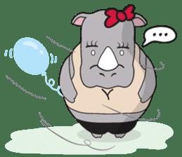 I'm A Rhyno Girl sticker #800746