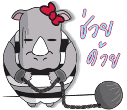 I'm A Rhyno Girl sticker #800758