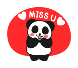 Panda In Love sticker #801451