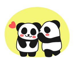 Panda In Love sticker #801463