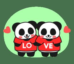Panda In Love sticker #801464