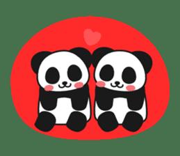 Panda In Love sticker #801467