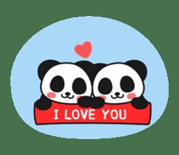 Panda In Love sticker #801468