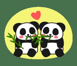 Panda In Love sticker #801471